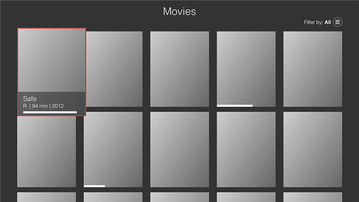 Wireframe - Fire TV - Movies category