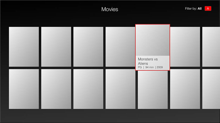 Wireframe - Smart TV - Movies category