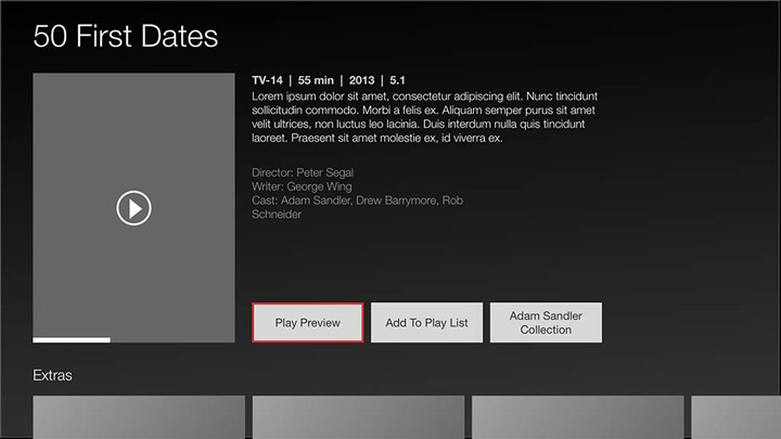 Wireframe - Smart TV - Movies details