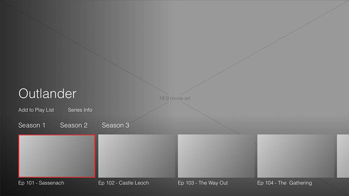 Wireframe - Fire TV - Series details