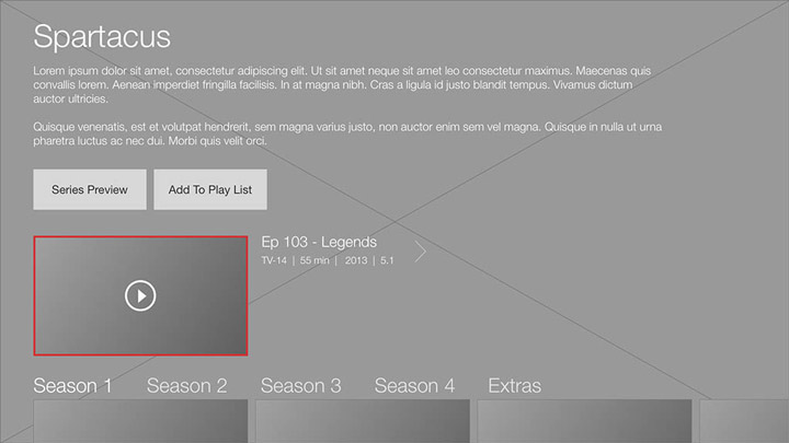 Wireframe - Smart TV - Series details