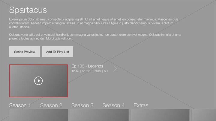 Wireframe - Smart TV - Series details