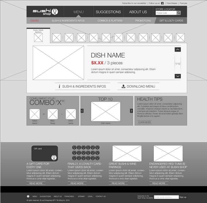 Wireframe - Product page